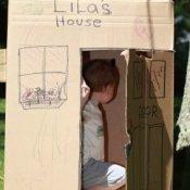 Making Cardboard Box Playhouses