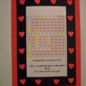 A crossword puzzle valentine's card.