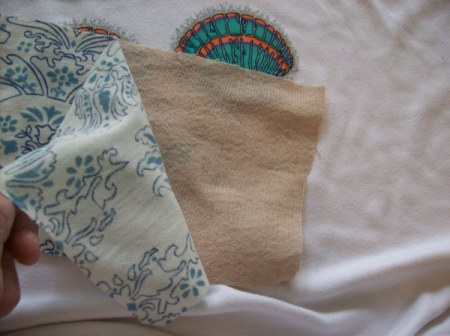muslin backing to cover logo