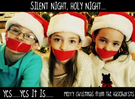 """Silent Night"" Christmas Photo"