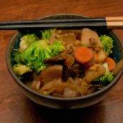 Sunchoke Stir Fry in Rice Bowl