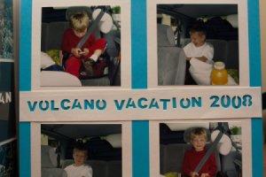 Volcano Vacation Scrapbook Page