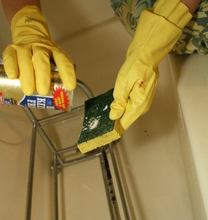 Applying Bar Keepers Friend