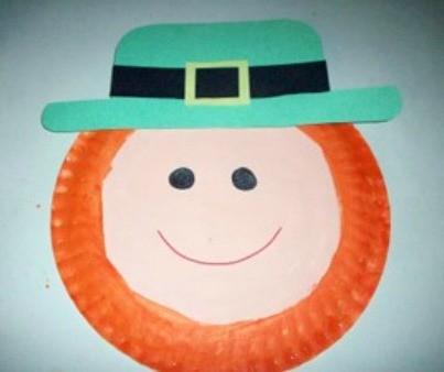 Paper Plate Leprechaun Finished & Making a Paper Plate Leprechaun | ThriftyFun