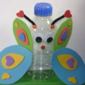 Recycled Kids Crafts: Bottle Butterfly