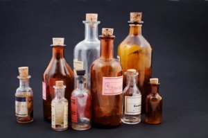 Crafts Using Old Glass Bottles, Old Medicine bottles