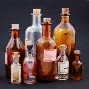 Crafts Using Old Glass Bottles, Old Medicine bottles