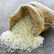 Saving Money on Rice, Rice Spilling out of Burlap Sack