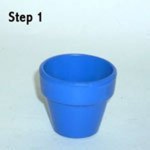 Easy Clay Pot Topiary Step 1