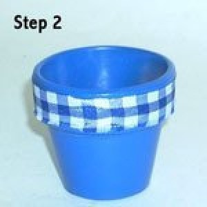 Easy Clay Pot Topiary Step 2