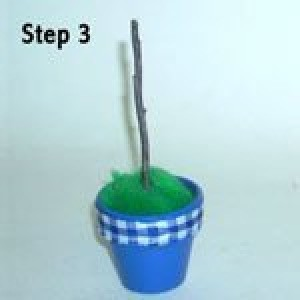 Easy Clay Pot Topiary Step 3