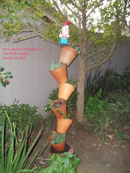 Tipsy Flower Pots (The Path Garden)