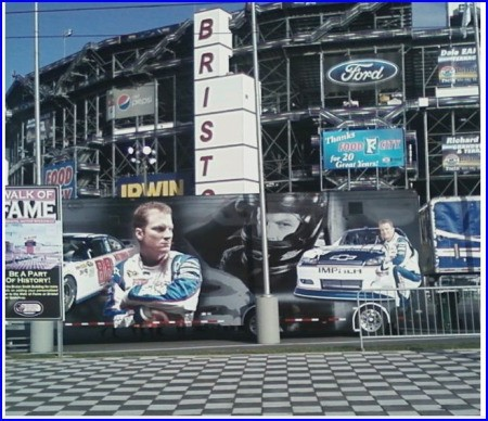 The outside of the Bristol Motor Speedway (Bristol, TN)