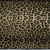A leopard print memory foam mat used as a car seat cover.