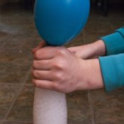 Inflating Balloon During Balloon Experiment