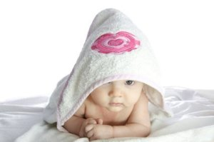 Baby in Hooded Bath Towel