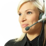 Woman Working Call Center