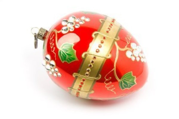 Decorated Plastic Easter Egg