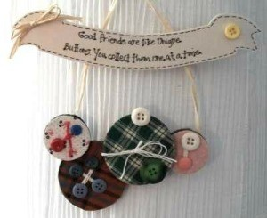 Button wall hanging.