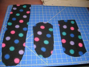 picture regarding Free Printable Fleece Sock Pattern identified as Creating Fleece Socks ThriftyFun