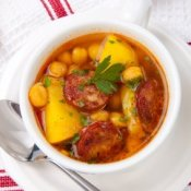 Chorizo and Chickpea Soup