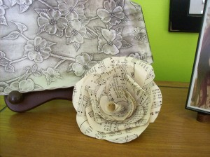 Paper Flowers From Old Books