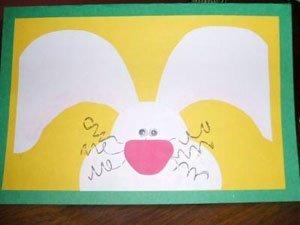 Three dimensional bunny card.