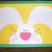 Three dimensional bunny card.