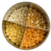 Popcorn Tin Filled with Four Types of Popcorn