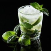 Mojito on Black Background