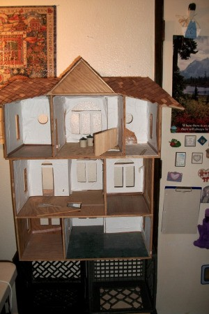 Interior view of doll house.