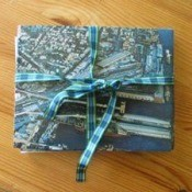 Recycled envelops and note cards.