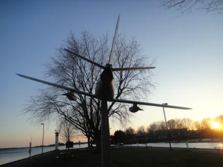 A plane on Block House Island (Brockville, Ontario)