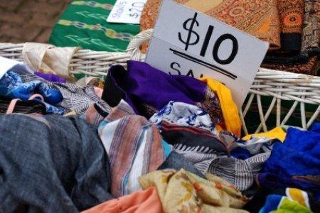 Ten Dollar Clothing Sale Bin