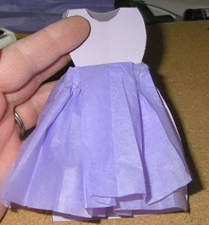 Mother's Day Dress Card - Finished Purple Dress Card