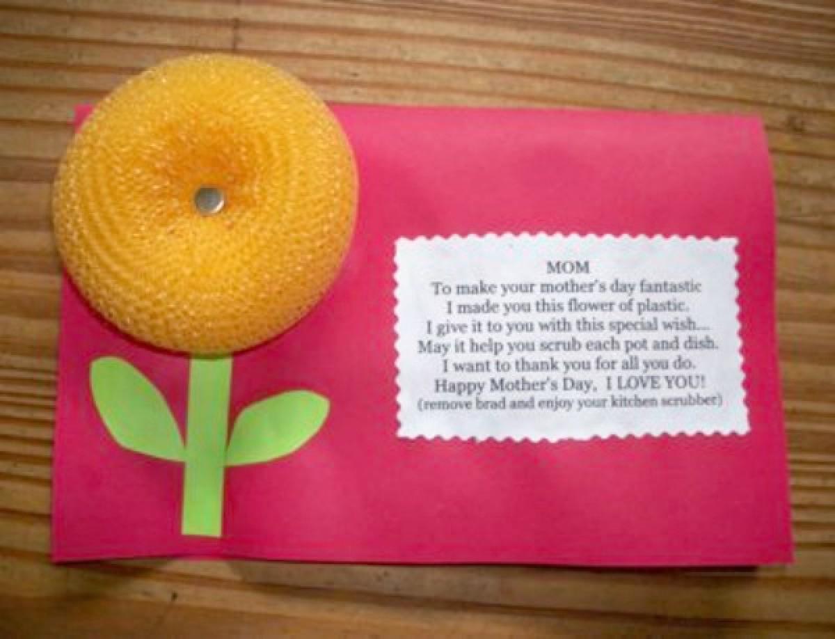 Scrubbie Flower Mother S Day Card Thriftyfun