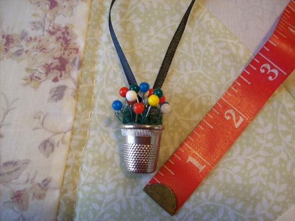 Thimble Necklace with measuring tape