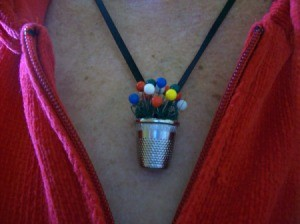Thimble Necklace - worn by crafter