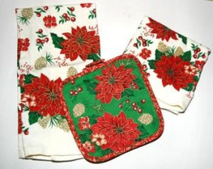 Tea towels and hot pot pad.