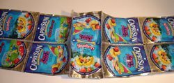 Juice Pouches sewn together