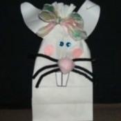 White paper bag bunny.