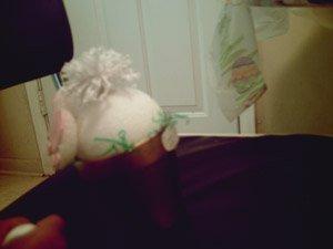 Opps bunny in flower pot.
