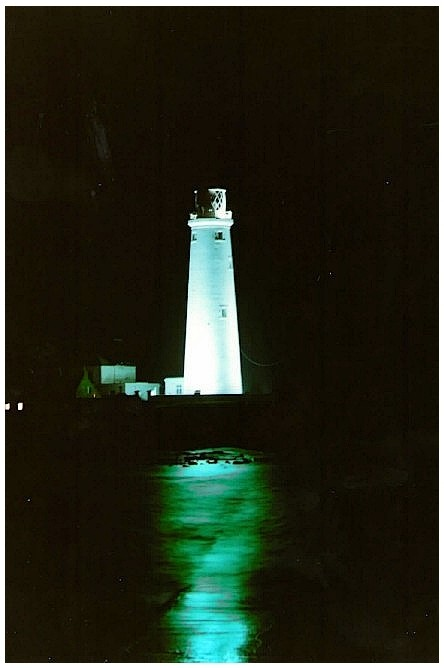 Lighthouse at night