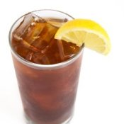 Iced Tea With Lemon Wedge