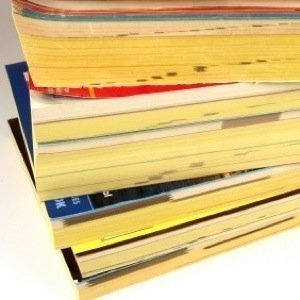 Stack of Old Phone Books