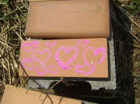 Painted Cinder Block Tiles