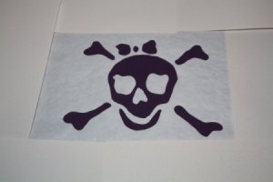 The pirate template masked for spray painting