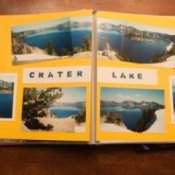 Crater Lake Scrapbook Page