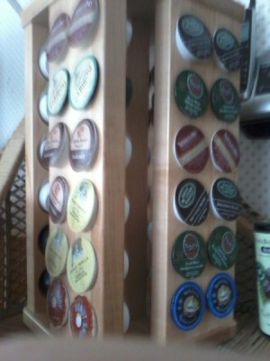 Spice rack for Keurig K-cups