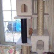 Homemade cat tree